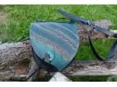 Sac escarcelle original bleu turquoise