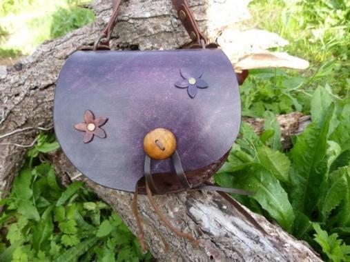 """Petit sac escarcelle violet """"féerique"""" fleur"""