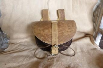 Escarcelle de type médiévale marron vieilli