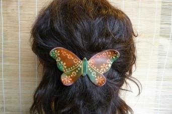 """Barrette """" papillon """" elfe de la forêt"""